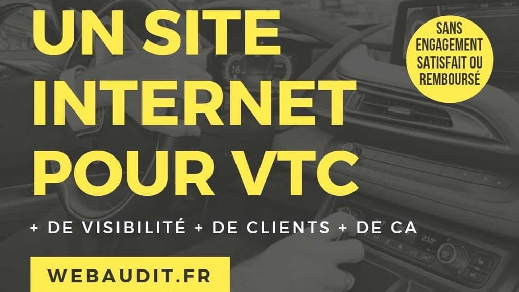 Site Web pour VTC avec module de commande et référencement SEO