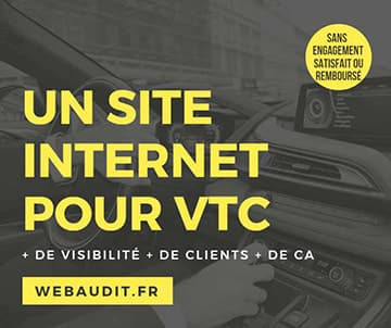 entreprise de webdesign spécialisée dans la création de sites Internet pour chauffeurs VTC