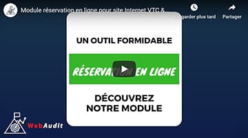 Module de réservation en ligne dédié aux chauffeurs privés VTC